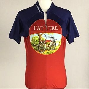 Fat tire cycling jersey, Size Small